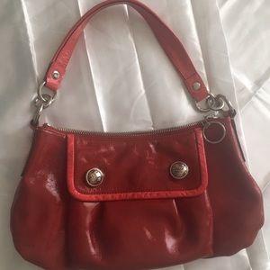 Coach Red Patent Leather Handbag Purse